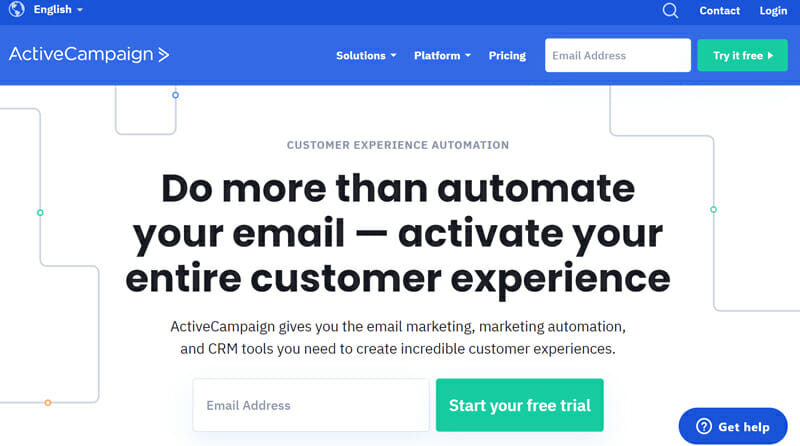 ActiveCampaign is the best CRM Software for Fantastic Customer Experience