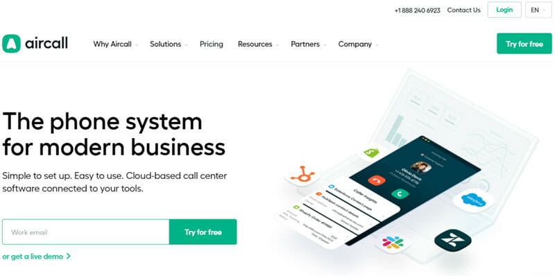 Aircall is a Versatile Phone System Designed for Sales and Support Teams