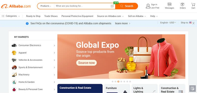 Alibaba.com is one of the largest cross border B2B  online marketplaces in the world