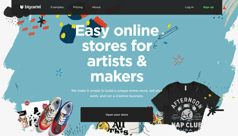 Big Cartel is a free eCommerce website builder for small businesses
