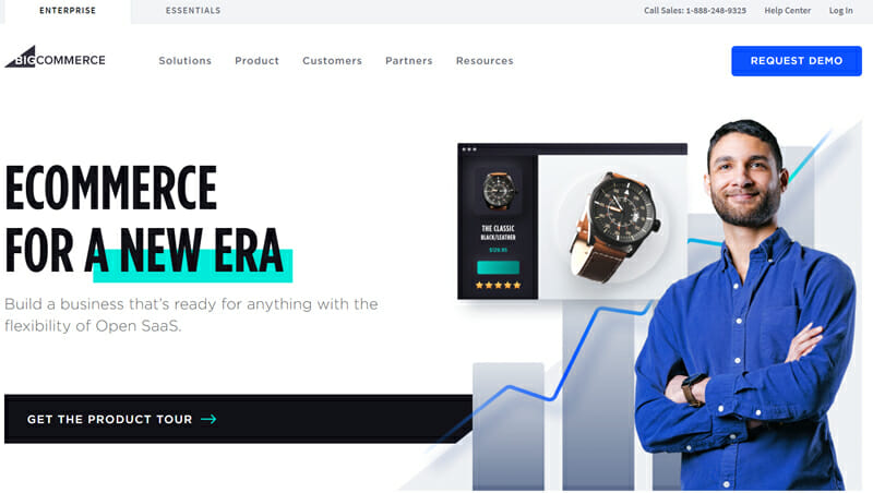 BigCommerce is an eCommerce platform with vigorous eCommerce tools for both small scale and large scale sellers