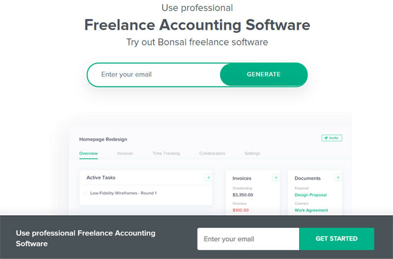 Bonsai is an all rounded accounting platform that helps to manage time and finances for numerous projects