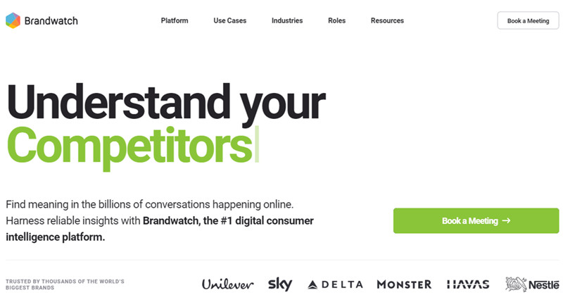 Brandwatch is the best Tool for Simultaneous Social Listening Across Multiple Platforms