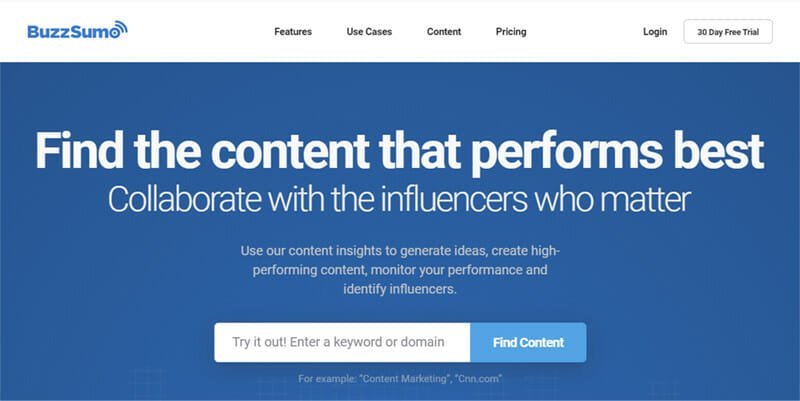 BuzzSumo is the best SEO Based Social Listening Tool for Businesses