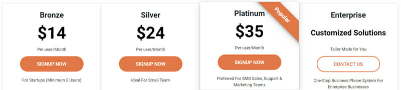 CallHippo Pricing Plan