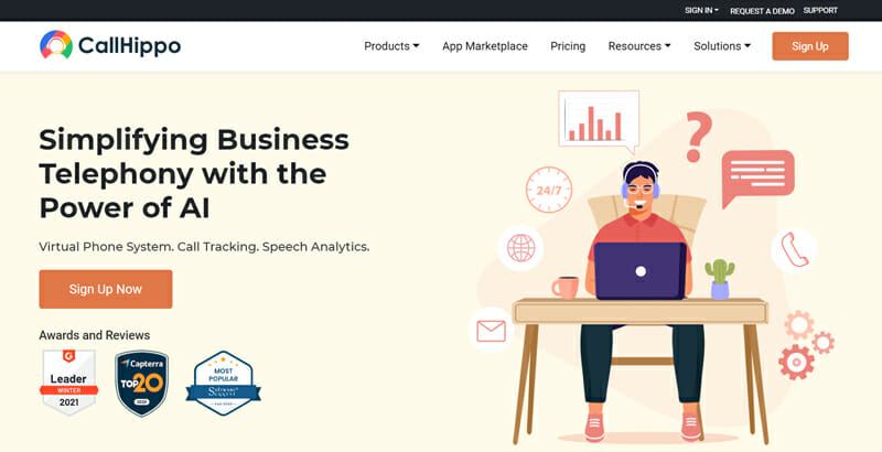 CallHippo is the best business phone service for very small businesses or entrepreneurs