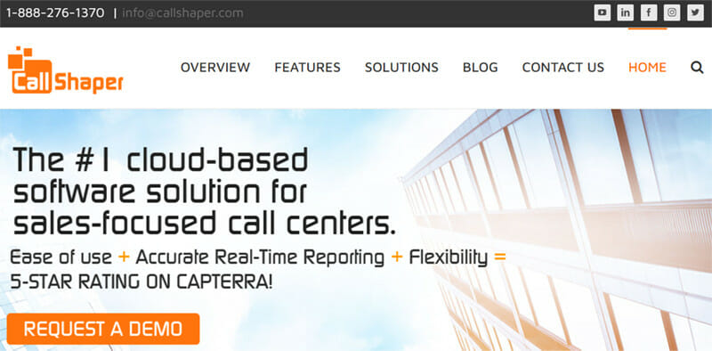 CallShaper is a Cloud based Call Center Software with a Dynamic Scripting Interface