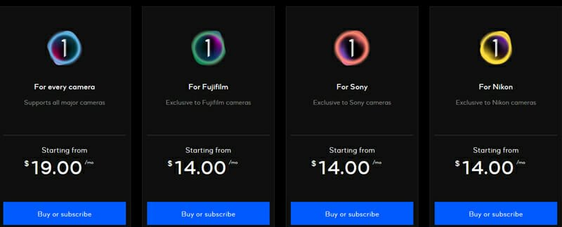 Capture One Pricing Plan