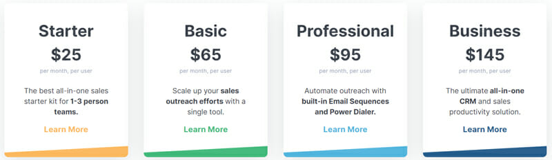 Close Pricing Plan