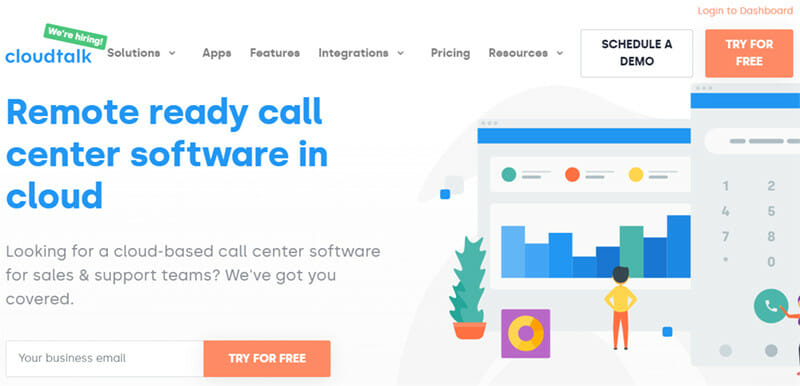 CloudTalk is a Virtual Phone System for Remote Sales and Customer Service Teams