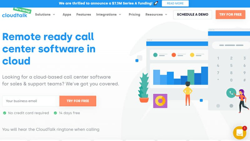 CloudTalk is the best business phone services for customer support teams