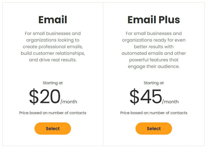 Constant Contact Pricing Plan