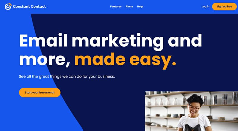 Constant Contact is a Design assisted eCommerce Platform for email marketing