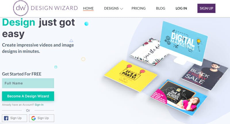 DesignWizard is a photo editing software that provides extensive features for guiding users