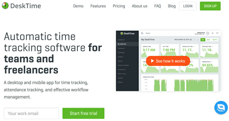DeskTime is the best for Basic Employee Monitoring and Time Tracking