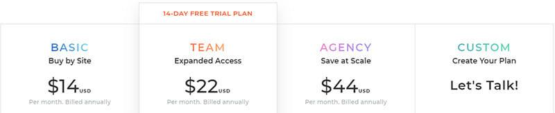 Duda Pricing Plan