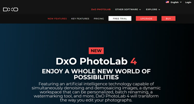 DxO PhotoLab is a photo editing software with a Comprehensive Toolset