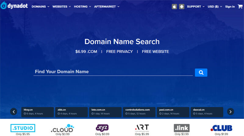 Dynadot is an Advanced Domain Registrar with One of The Cheapest and Largest Collection of Domains