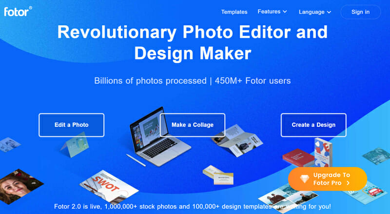 Fotor is an online photo editor with comprehensive Image editing options