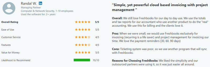 Freshbook Customer Review