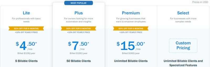 Freshbooks Pricing Plan