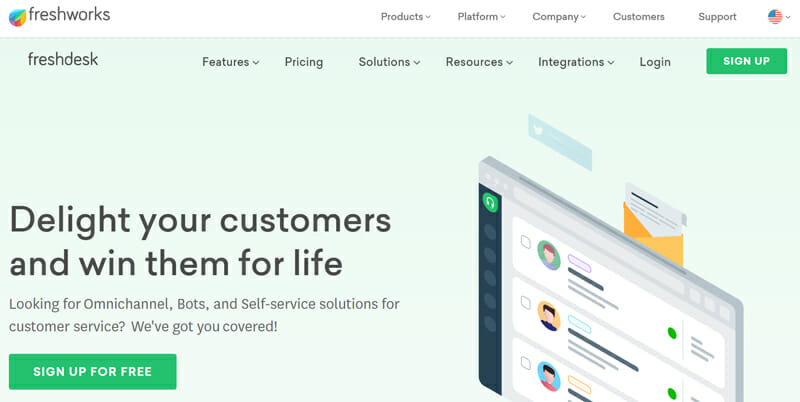 Freshdesk is the best Cloud based, Omnichannel Ticketing Software for Small Businesses