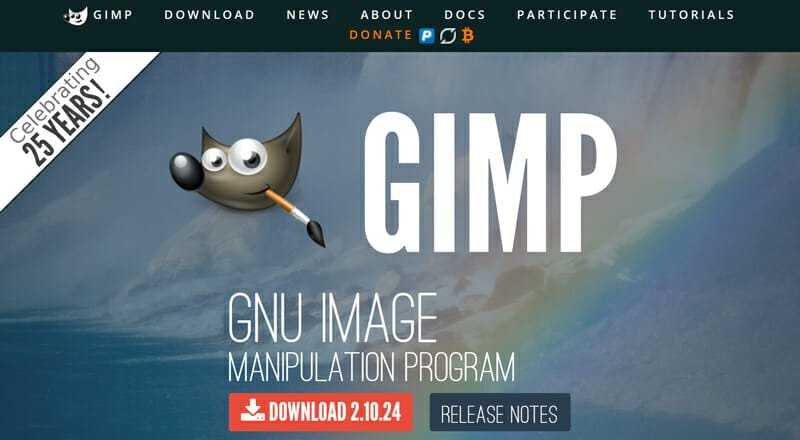 Gimp is a Free and Open Source Photo Editing Software With Basic Image Editing Options