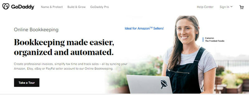 GoDaddy Online Bookkeeping is a simple accounting software that help freelancers and entrepreneurs