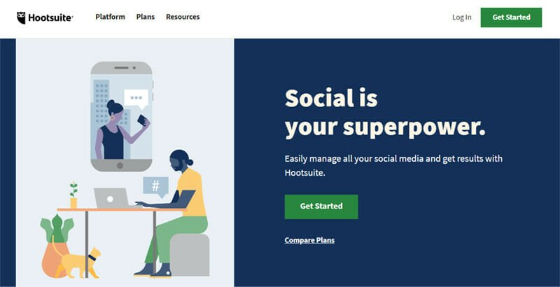 Hootsuite is the best All Round Social Media Management and Listening Tool for Small to Large Businesses and Agencies