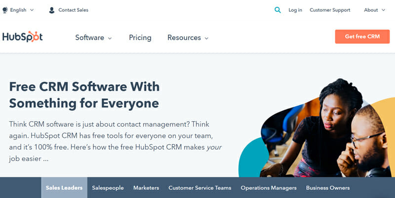 HubSpot CRM is the best CRM Software for Small Businesses