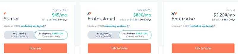HubSpot Email  Marketing Pricing Plan