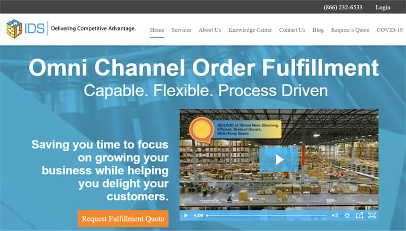 IDS Fulfillment 3PL Service Comprehensively Optimized for Both B2B and DTC Fulfillment Operations