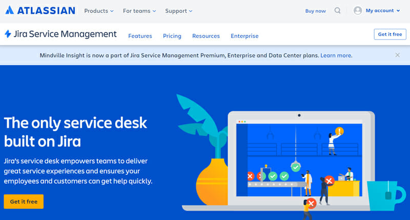 Jira Service Desk is the best Combined ITSM and Customer Service IT Ticketing Helpdesk Solution