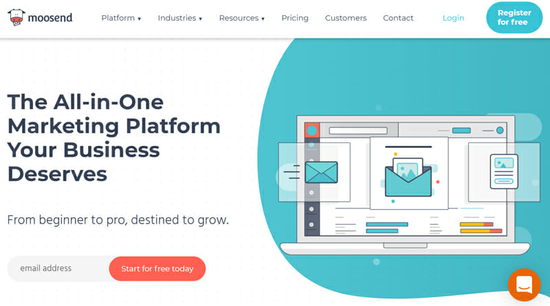 Moosend is the best Mailchimp Alternative for Small Businesses