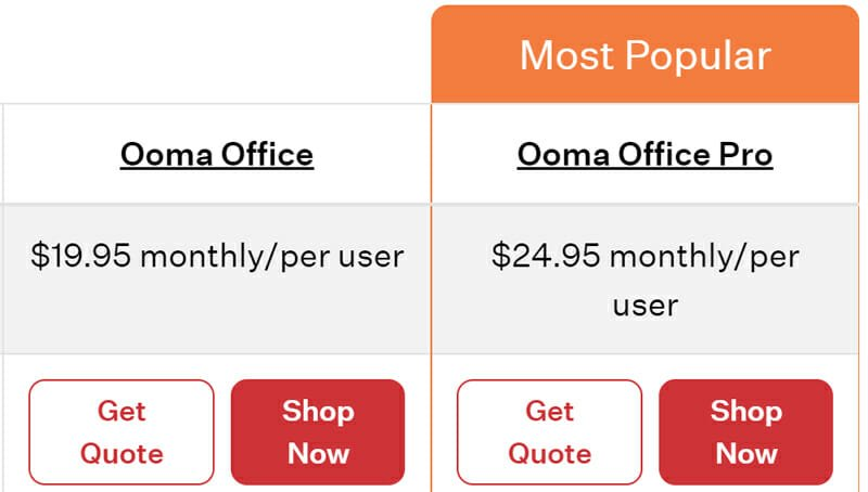 Ooma Business Phone Plans