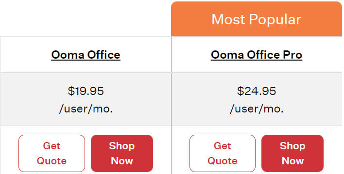 Ooma Pricing Plan