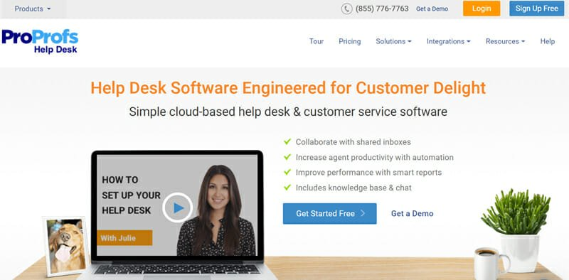 ProProfs Helpdesk is the best User friendly All Round Helpdesk Software for Customer Service for Small Businesses