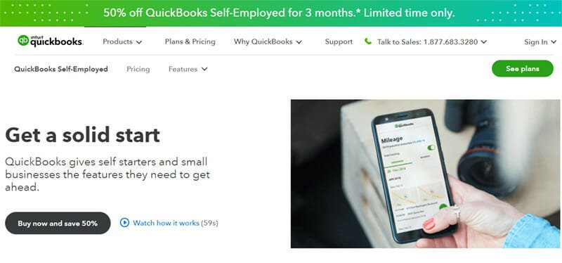 QuickBooks Self Employed  accounting software is famous for its automated tracking mileage, invoices and transactions