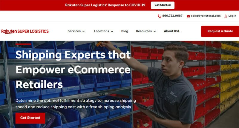 Rakuten Super Logistics 3PL Service With Cost Effective and Fast Deliveries Across The US