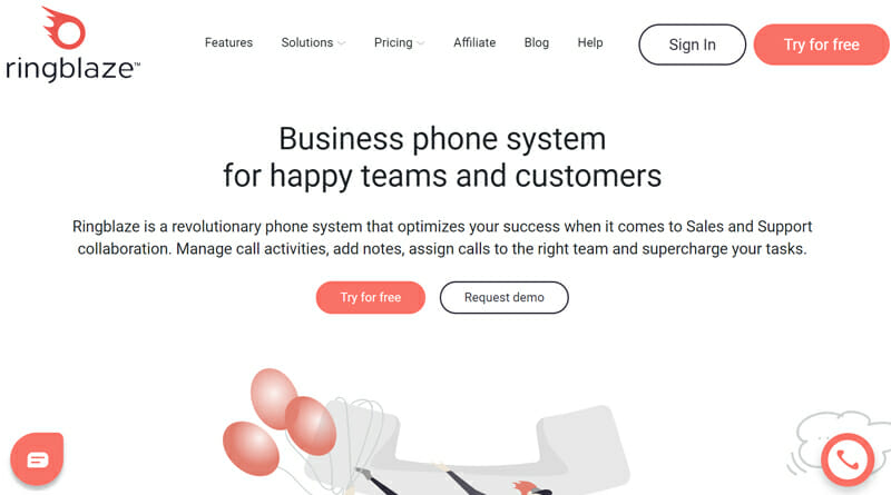 Ringblaze is the best simple business phone service for small sales and support businesses
