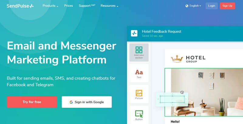 SendPulse is the best free email marketing tool with great analytics and reporting