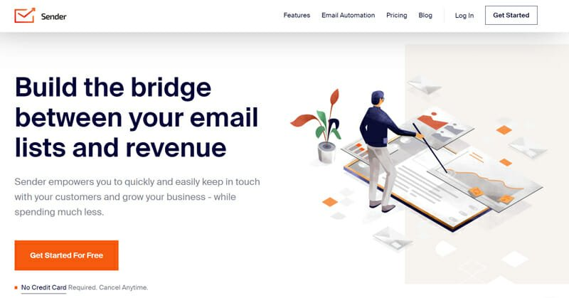 Sender is the best email marketing service with high deliverability