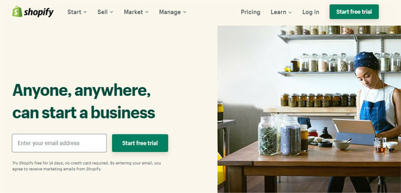 Shopify is a Fully featured Website Content Management System