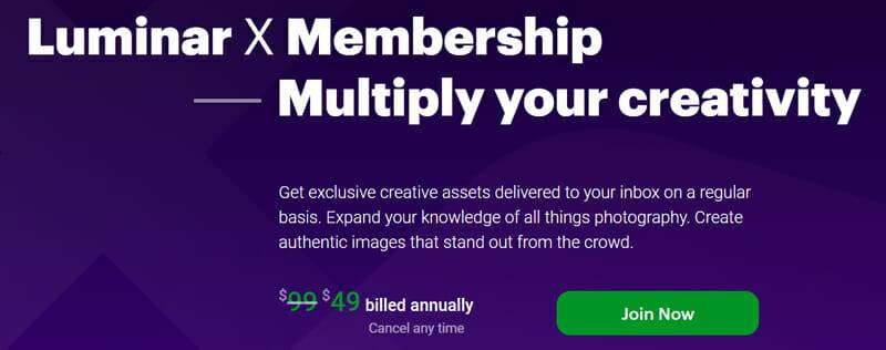 Skylum Luminar Membership Plan