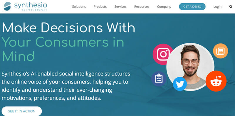 Synthesio is the best Enterprise Level Consumer Intelligence Social Listening Platform for Market Research