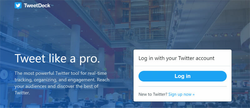 TweetDeck is the best Free Twitter Management and Social Listening Tool