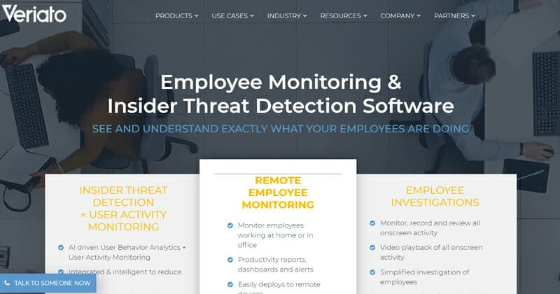 Veriato 360 is the best for Cybersecurity Monitoring