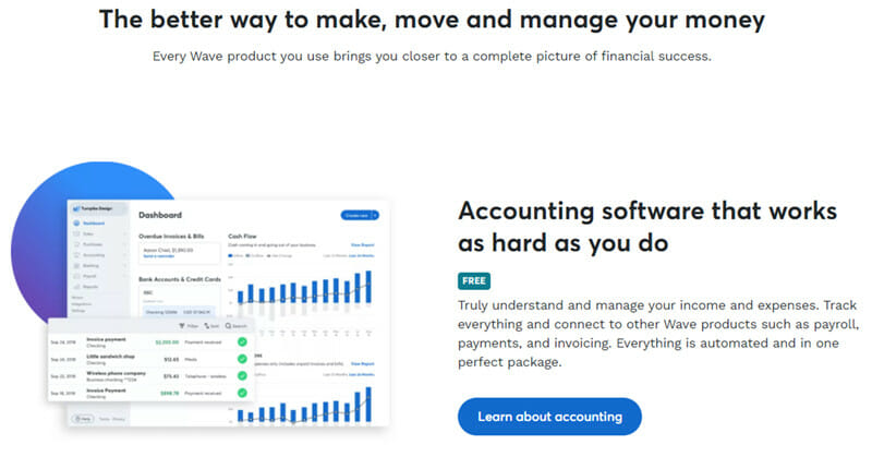 Wave Accounting is perfect accounting software for emerging businesses with small budgets