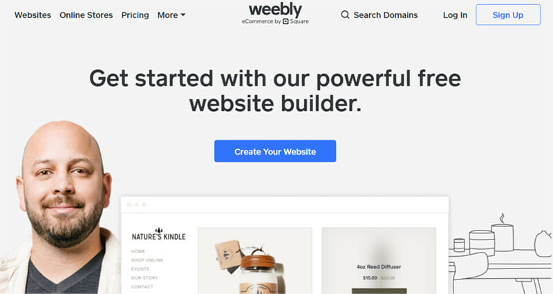 Weebly is the best cheap website builder that is extremely easy to use