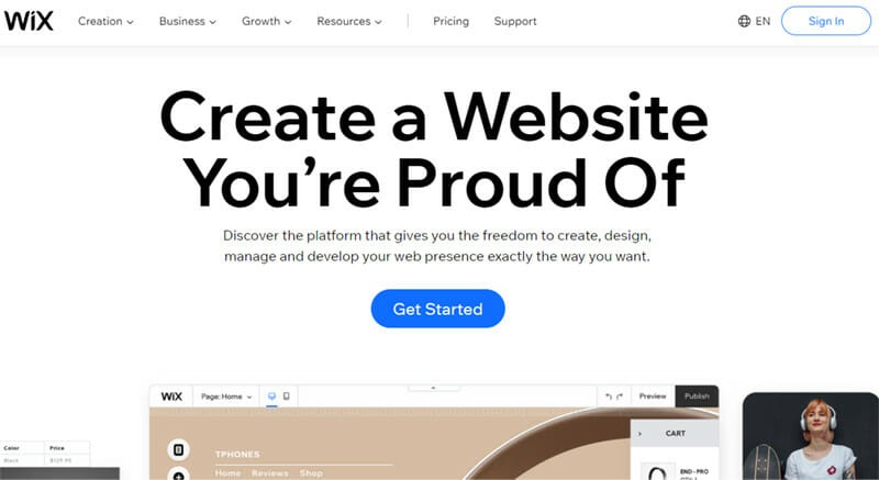 Wix is the Best Website Builder with an Artificial Design Intelligence (ADI) Feature